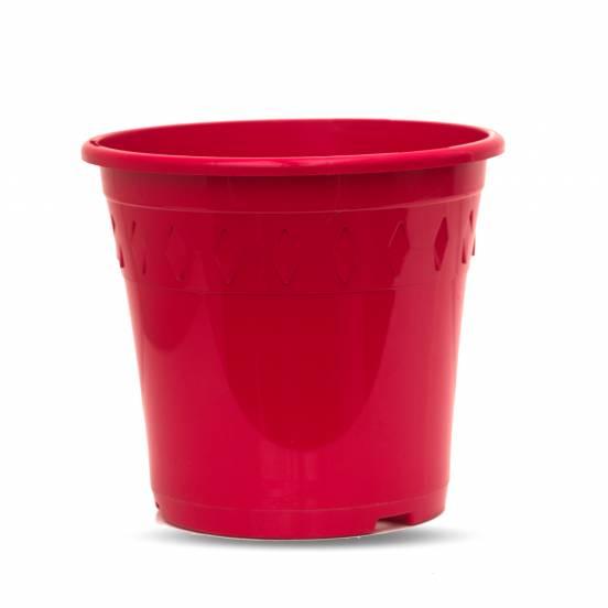 Pot de culture - rouge - 4 litres