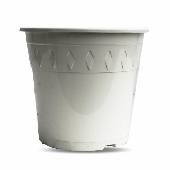 Pot de culture - blanc - 3 litres